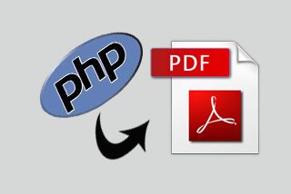 How to create PDF file with PHP